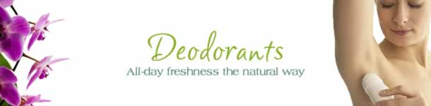 Natural Aluminum Free Deodorants for Men and Women