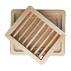 Deluxe Wooden Soap Dish with Tray