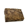 African Black Soap Bar Unwrapped