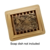 African Black Soap Bar Size (dish not included)